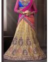 Multicolor Net Designer Lehenga Choli