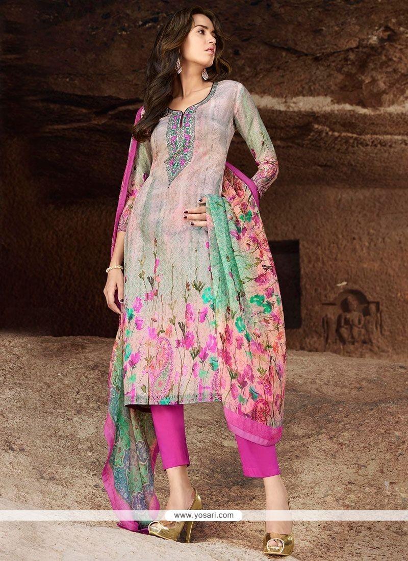 Innovative Cotton Multi Colour Pant Style Suit