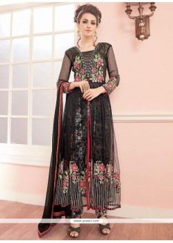 Capricious Net Embroidered Work Anarkali Salwar Suit