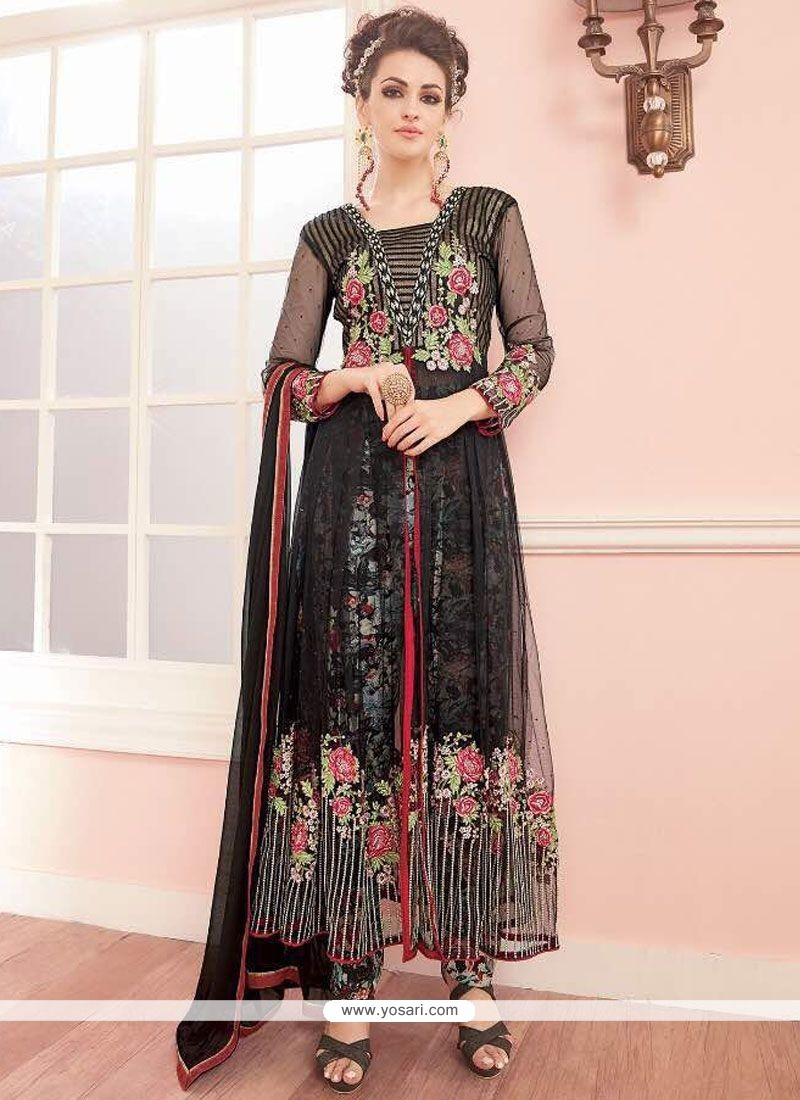 Capricious Net Embroidered Work Anarkali Salwar Suit