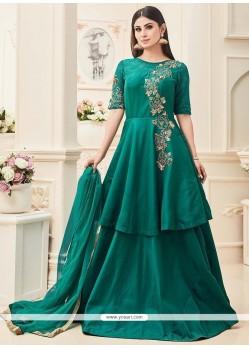 Mouni Roy Tafeta Silk Anarkali Salwar Suit