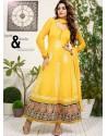 Yellow Net Anarkali Suit