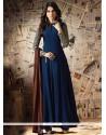 Jennifer Winget Navy Blue Faux Georgette Designer Floor Length Suit