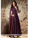 Jennifer Winget Wine Embroidered Work Designer Floor Length Suit