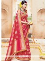Radiant Red Designer Traditional Saree