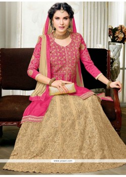 Capricious Long Choli Lehenga For Sangeet