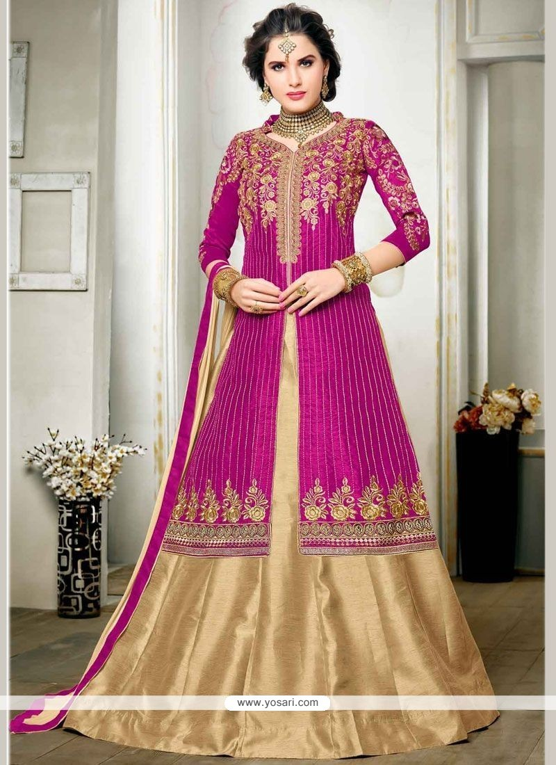 Mesmeric Zari Work Long Choli Lehenga