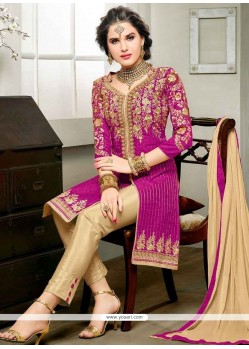 Remarkable Magenta Churidar Designer Suit