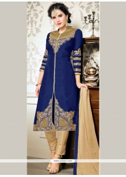 Glorious Zari Work Churidar Designer Suit