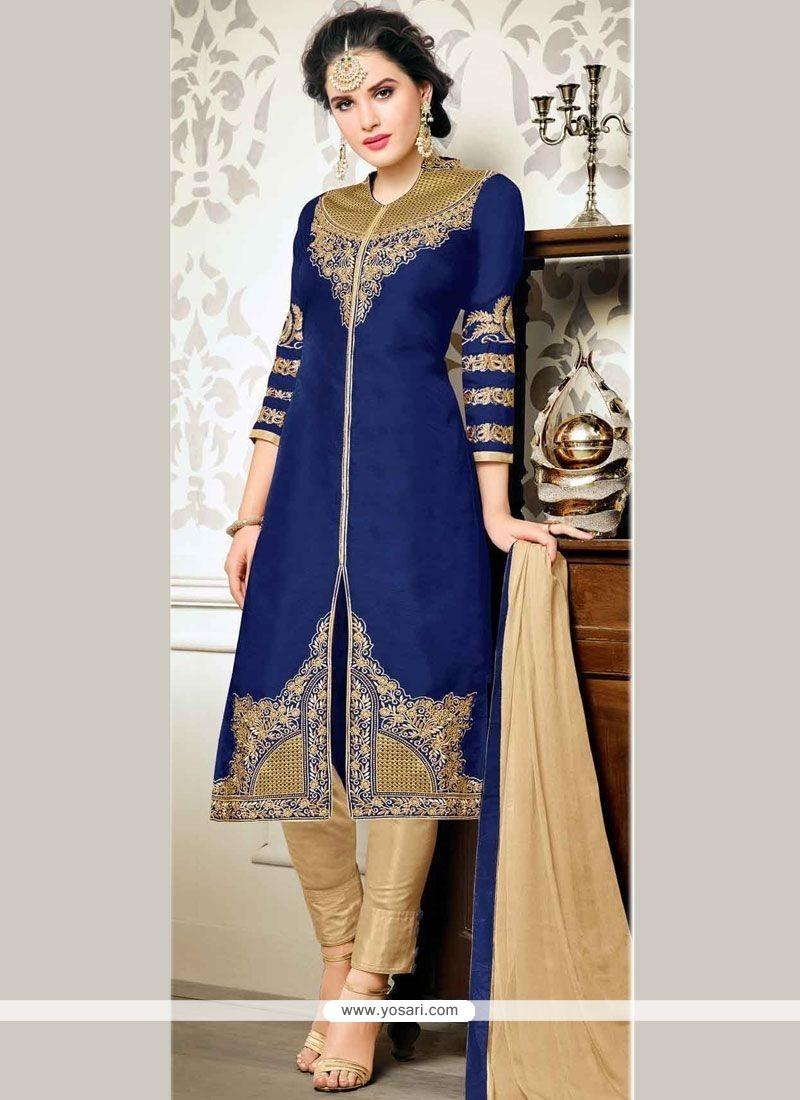 Glorious Zari Work Churidar Designer Suit