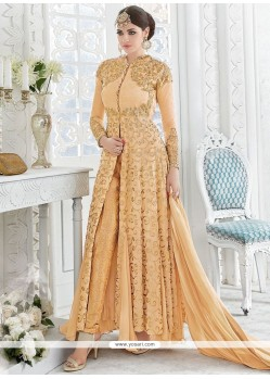 Orange Georgette Designer Suit