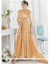 Orange Georgette Designer Suit