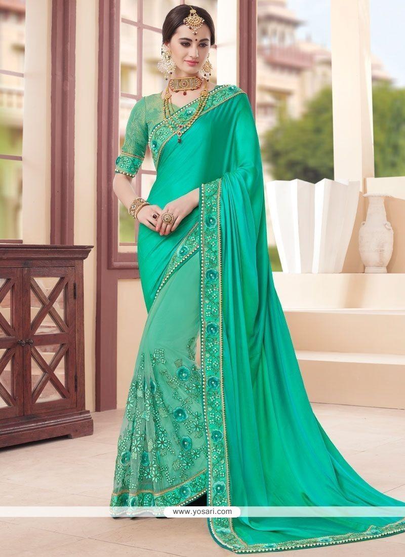 Prime Sea Green Designer Saree