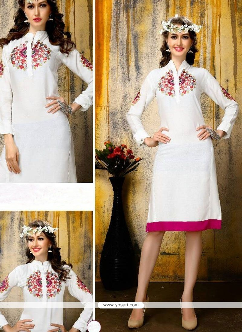 Best Embroidered Work Party Wear Kurti
