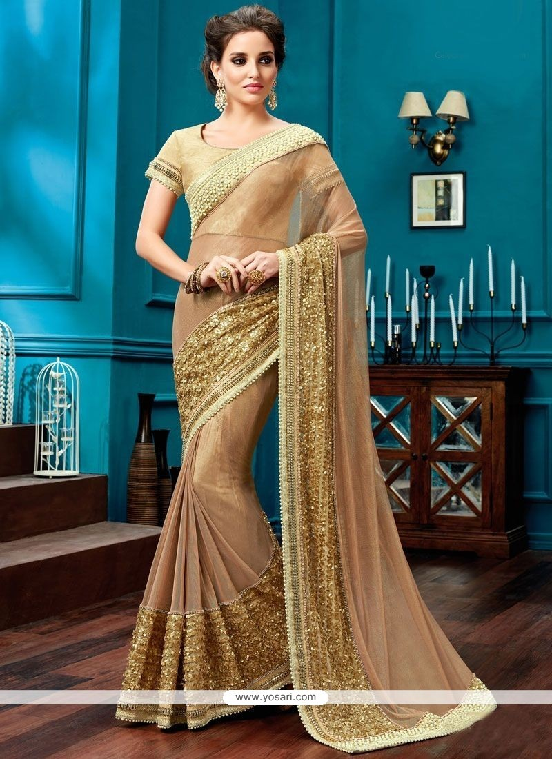 Amusing Lace Work Designer Saree