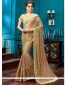 Modish Beige Classic Designer Saree