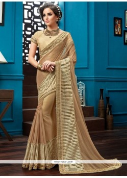 Mod Embroidered Work Brown Classic Saree