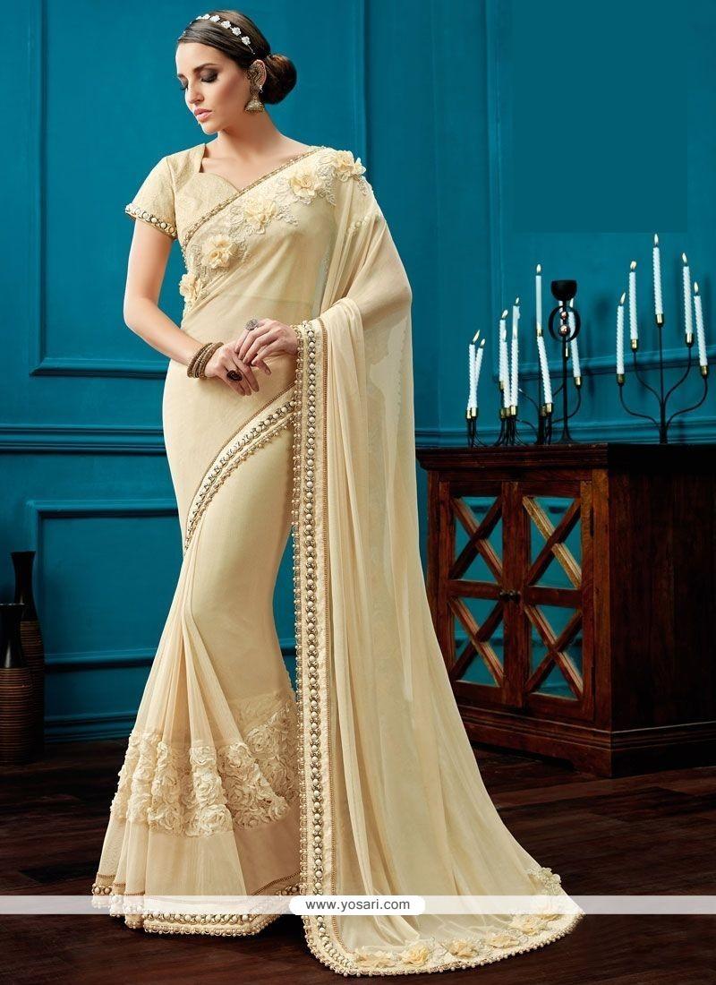 Incredible Net Resham Work Classic Saree