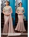Thrilling Resham Work Faux Chiffon Classic Designer Saree