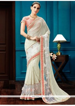 Genius Fancy Fabric Patch Border Work Designer Saree