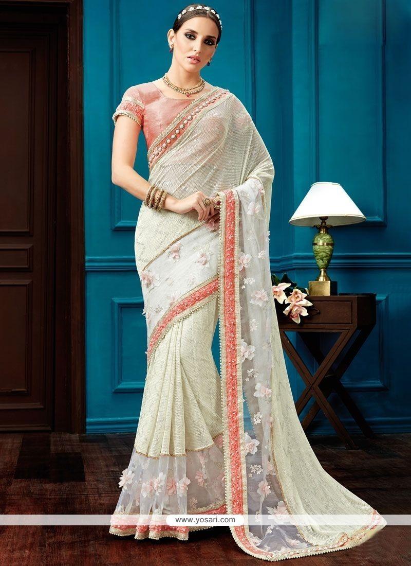 Genius Fancy Fabric Patch Border Work Designer Saree