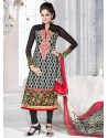 Multicolor Crepe Anarkali Suit