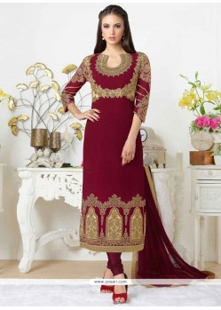 Fantastic Stone Work Churidar Designer Suit