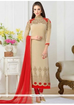 Glitzy Faux Georgette Stone Work Churidar Designer Suit