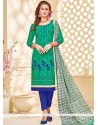 Extraordinary Sea Green Churidar Suit