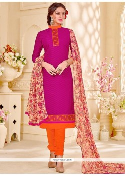 Monumental Embroidered Work Churidar Suit