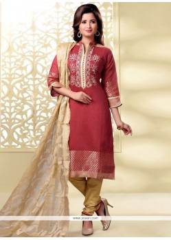 Hypnotic Rose Pink Churidar Designer Suit