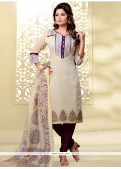 Regal Embroidered Work Churidar Designer Suit