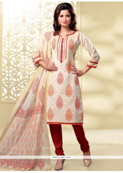 Dainty Lace Work Churidar Designer Suit