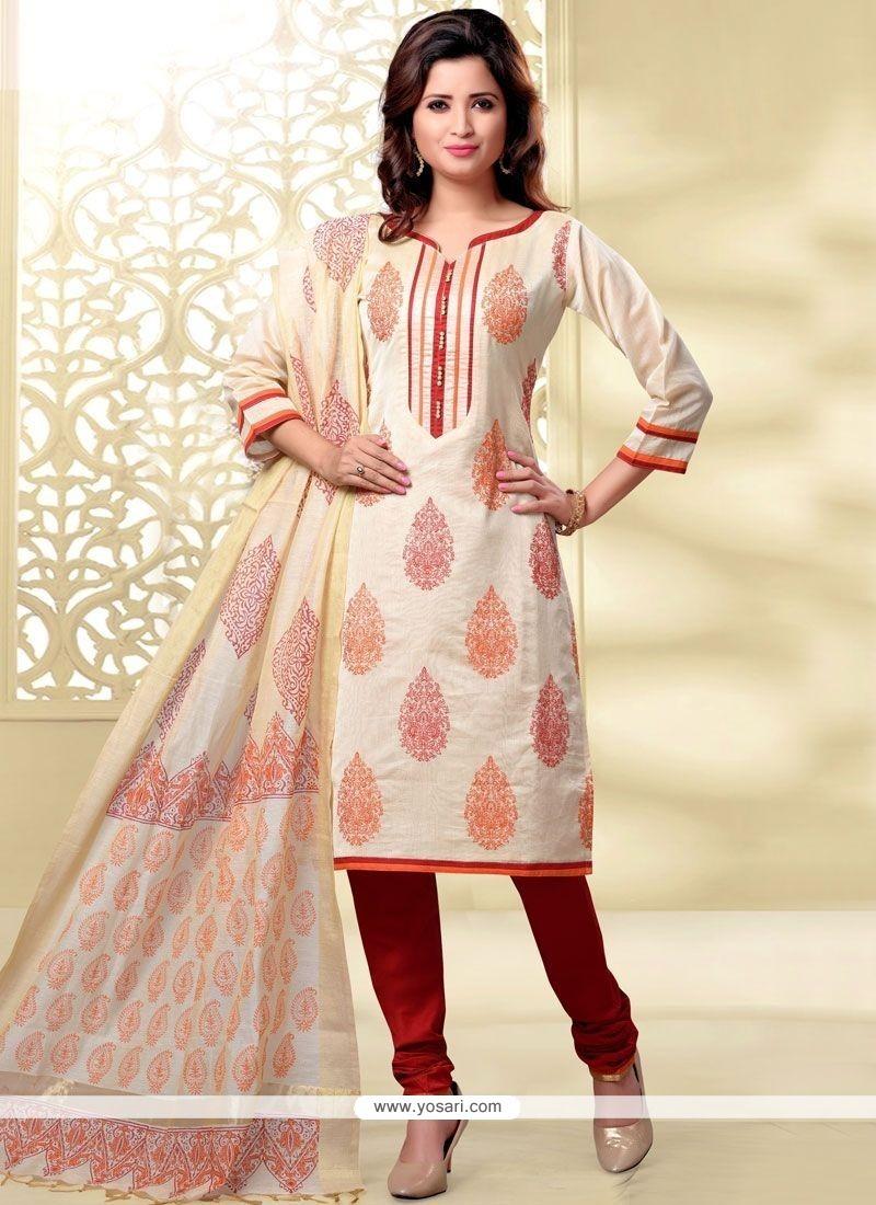 Dainty Lace Work Churidar Designer Suit