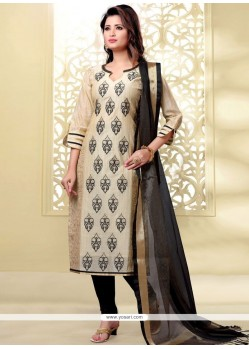 Brilliant Lace Work Churidar Designer Suit