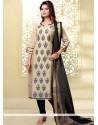 Brilliant Lace Work Churidar Designer Suit