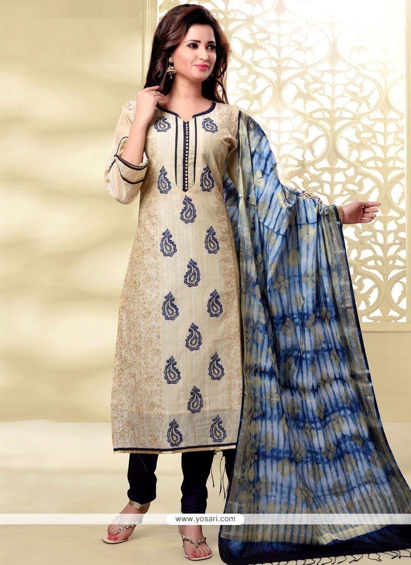Exceeding Chanderi Churidar Designer Suit