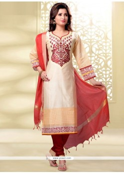 Sonorous Lace Work Churidar Designer Suit