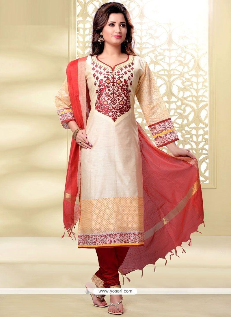 Sonorous Lace Work Churidar Designer Suit