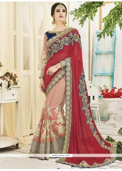 Peppy Designer Half N Half Saree For Wedding