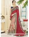 Peppy Designer Half N Half Saree For Wedding