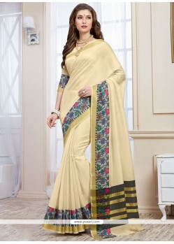 Flattering Cotton Silk Designer Traditional Saree