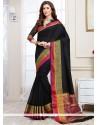 Resplendent Black Woven Work Traditional Designer Saree