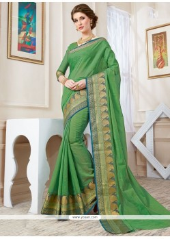 Sophisticated Cotton Silk Woven Work Designer Traditional Saree