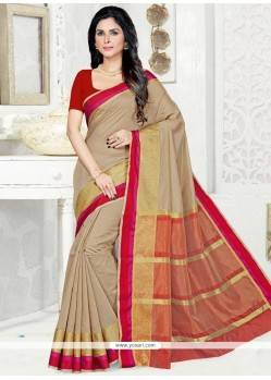 Appealing Cotton Silk Woven Work Traditional Saree