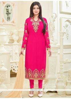 Ayesha Takia Embroidered Work Churidar Designer Suit