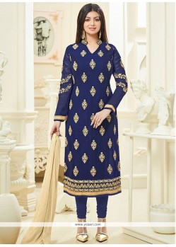 Ayesha Takia Navy Blue Churidar Designer Suit