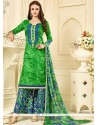 Praiseworthy Green Palazzo Suit