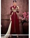 Catchy Maroon Designer Palazzo Suit