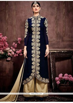 Captivating Embroidered Work Designer Palazzo Salwar Kameez